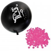 Heliumballong rosa konfetti boy or girl ballong helium gender reveal party baby shower Hisab 64946