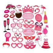 Photo Booth tillbehör Flamingo rosa rekvisita props