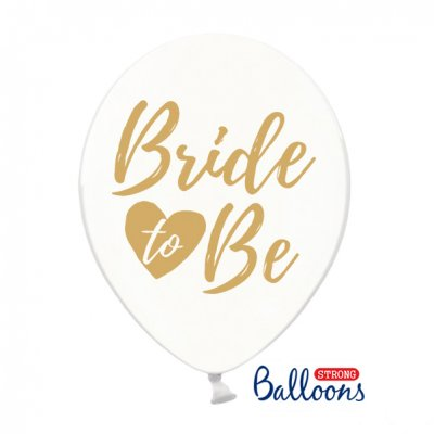 Ballonger, Möhippa, Bride to Be, transparent & rosa, 6-pack