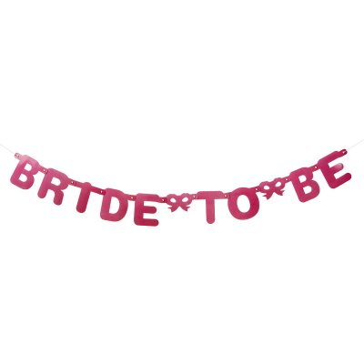 Girlang rosa bride to be möhippa banner bröllop